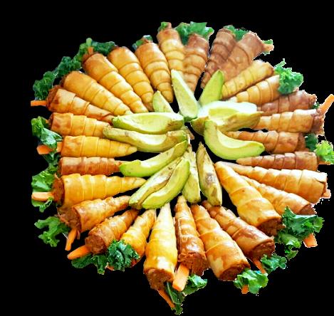 portrait of caribbean food